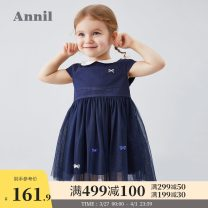 Dress Ice water blue rice white rose powder new royal blue female Annil / anel 80cm 90cm 100cm 110cm 120cm Other 100% summer princess Short sleeve Solid color Cotton blended fabric Cake skirt TG023033 Summer 2020 12 months, 18 months, 2 years old, 3 years old, 4 years old, 5 years old, 6 years old