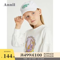 Sweater / sweater Annil / anel Taro purple rice white female 110cm 120cm 130cm 140cm 150cm 160cm spring and autumn nothing leisure time Socket routine There are models in the real shooting Cartoon animation Other 100% EG111040 Spring 2021