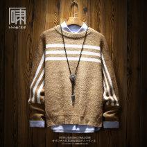 T-shirt / sweater Xiaodu Fashion City Light grey Camel M L XL XXL routine Socket Crew neck Long sleeves J18DD895 autumn easy 2018 Polyacrylonitrile fiber (acrylic fiber) 72% polyamide fiber (nylon fiber) 20% polyethylene terephthalate (polyester fiber) 8% leisure time Japanese Retro youth routine