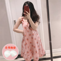 Nightdress Other / other 666 bean paste striped strawberry, 664 blue watermelon, 663 white watermelon, 665 green leaves, 661 white strawberry, 661 pink strawberry, 660 white pineapple 160 (m), 165 (L), 170 (XL), 170 (XXL), 2 pieces of discount 5 yuan, collection gift Oh Sweet camisole pajamas summer