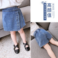 trousers Maiqu bear female summer shorts Korean version There are models in the real shooting Jeans Leather belt middle-waisted Cotton denim Don't open the crotch other 2 years old, 3 years old, 4 years old, 5 years old, 6 years old, 7 years old, 8 years old