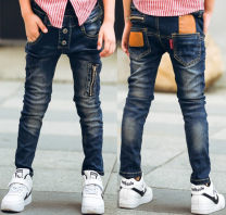 trousers Maiqu bear male spring and autumn trousers leisure time There are models in the real shooting Jeans Leather belt middle-waisted Denim Don't open the crotch Cotton 80% other 20% other 2, 3, 4, 5, 6, 7, 8, 9, 10, 11, 12, 13, 14 years old