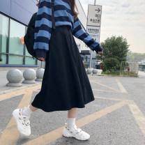 skirt Spring 2021 S,M,L Mid length dress commute High waist Irregular 18-24 years old 91% (inclusive) - 95% (inclusive) Denim other Korean version