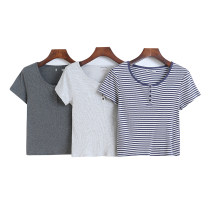 T-shirt Dark gray, light gray, dark yellow, blue and white S,M,L Summer 2021 Short sleeve Crew neck Self cultivation have cash less than that is registered in the accounts routine other 51% (inclusive) - 70% (inclusive) Lady Boya Button