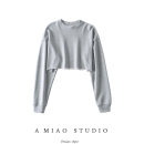 Sweater / sweater Autumn 2020 Gray, sky blue, white, black, haze blue S, M Long sleeves have cash less than that is registered in the accounts Socket singleton  Crew neck easy street Solid color 71% (inclusive) - 80% (inclusive) Europe and America