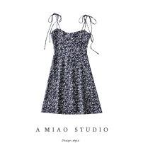 Dress Summer 2021 S,M,L Short skirt singleton  Sleeveless commute High waist camisole Retro 71% (inclusive) - 80% (inclusive)