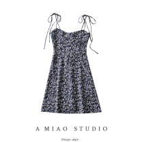 Dress Summer 2021 S,M,L Short skirt singleton  Sleeveless commute High waist camisole Retro 71% (inclusive) - 80% (inclusive)