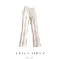Casual pants Grey, apricot, black S,M,L Spring 2021 trousers High waist routine 71% (inclusive) - 80% (inclusive) Asymmetry