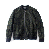 Jacket RADIUM Youth fashion Army green S,M,L,XL routine Self cultivation Other leisure autumn Long sleeves Wear out stand collar Military brigade of tooling youth routine Zipper placket 2015 Rib hem washing Closing sleeve camouflage Rib bottom pendulum Thread embedding and bag digging cotton