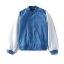 Jacket RADIUM Fashion City Blue + white S,M,L,XL routine Self cultivation Other leisure spring Long sleeves Wear out stand collar Japanese Retro teenagers routine Single breasted 2015 Rib hem washing Closing sleeve Solid color Color matching Thread embedding and bag digging cotton More than 95%