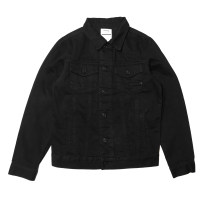 Jacket RADIUM Youth fashion black S. M, l, XL, XS (165 in stock) thick easy Other leisure Four seasons Cotton 100% Long sleeves Wear out Lapel Japanese Retro teenagers routine Single breasted 2018 Cloth hem washing Closing sleeve Solid color Denim More than two bags) Mingji thread patch bag cotton