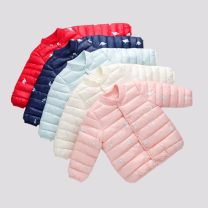 Cotton padded jacket neutral nothing other WDOUBLEUDOT Maple leaf pink maple leaf Beige Black Royal Blue Navy cyan red pink yellow red stone Navy 1 90cm 100cm 110cm 120cm 130cm Thin money Single breasted Britain No model Cartoon animation Flax 100% Cotton liner Chinese Mainland Guangdong Province