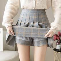 skirt Winter 2020 S,M,L,XL Grayish yellow ᦇ 6003, grey Khaki ᦇ 6003, dark grey ᦇ 6003, black ᦇ 6003, dark grey ᦇ 6004, khaki ᦇ 6004, coffee ᦇ 6004, black ᦇ 6004, black ᦇ 6007, brown ᦇ 6007, customized shooting! From 300 pieces Short skirt Versatile High waist Pleated skirt lattice Type A Wool