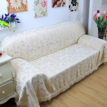 Sofa cover / towel Liufang - Orange Liufang - off white clear four leaf flower vase with spring flowers and autumn fruits vine - off color vase - red vase - Green Vase - gray Sofa cover (covering the whole sofa) European style Plant flower grass leaf stripe lattice geometric pattern Sectional sofa