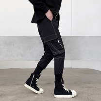 Casual pants Others Youth fashion black M,L,XL,2XL,3XL routine trousers Other leisure easy No bullet 21.01.02 Four seasons youth tide 2021 Medium low back Little feet Overalls Pocket decoration No iron treatment Solid color