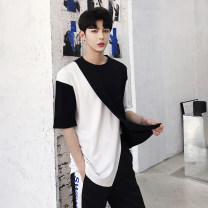T-shirt other Graph color routine M,L,XL Others Short sleeve Crew neck easy Other leisure summer teenagers Off shoulder sleeve tide 2020