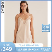 Nightdress oysho Pink S M L Sweet camisole Leisure home Middle-skirt Solid color youth V-neck Polyester (polyester) lace 81% (inclusive) - 95% (inclusive) 30292204787-30 Spring 2021 Polyester 89% polyamide 11% Same model in shopping mall (sold online and offline) Polyester 89% polyamide 11%