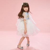 Dress Embroidery white [in stock] female Nilska Other 100% summer princess Short sleeve other other Lotus leaf edge 20LYQ112 Class B Summer 2020 4 years old, 5 years old, 6 years old, 7 years old, 8 years old, 9 years old, 10 years old, 11 years old, 12 years old, 13 years old, 14 years old Hangzhou