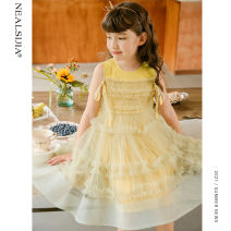 Dress female Nilska 110cm 120cm 130cm 140cm 150cm 160cm Other 100% summer princess Skirt / vest Solid color Netting Cake skirt Class B Summer 2021 5 years old, 6 years old, 7 years old, 8 years old, 9 years old, 10 years old, 11 years old, 12 years old, 13 years old, 14 years old Chinese Mainland