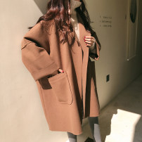 woolen coat Autumn of 2019 S,M,L,XL,2XL,3XL,4XL Black, coffee, random gift other 31% (inclusive) - 50% (inclusive) Medium length Long sleeves commute other Bat sleeve Solid color Cape type Other / other 18-24 years old Solid color Imitation fabric