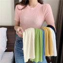 shirt Average size Summer 2020 other 96% and above Short sleeve commute stand collar Socket routine Solid color 18-24 years old Self cultivation Korean version
