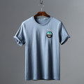 T-shirt other 21-0259 blue routine 170,175,180 Huasachi Short sleeve Crew neck standard Other leisure summer Cotton 100% routine Youthful vigor Sweat cloth 2021 Solid color Embroidery cotton Embroidery More than 95%