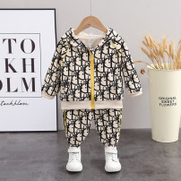 suit Winter 2020 Fairy Tales 6 months 12 months 9 months 18 months 2 years 3 years 4 years old male spring and autumn Long sleeve + pants routine Korean version 2 pieces other other Zipper shirt The cap is not detachable Class A 8103 No model in real shooting Polyester 100% children Chinese Mainland