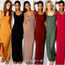 Dress Winter 2020 longuette singleton  commute High waist Solid color Socket One pace skirt Others