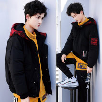 Cotton padded jacket male No detachable cap other Other / other black 150cm, 160cm, 170cm, 180cm, tag 190 yards thickening Zipper shirt Korean version No model Solid color Class C Polyester 100% Polyester 100% 10, 11, 12, 13, 14