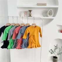 Dress Black, orange, light gray, light green, peach female Other / other 80cm,90cm,100cm,110cm,120cm,130cm Other 100% Solid color Irregular 3 months