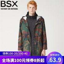 Jacket BSX Youth fashion 165/92A/S 170/96A/M 175/100A/L 180/104A/XL thin standard Other leisure spring Polyester 100% Long sleeves Wear out Hood tide long Zipper placket Cloth hem Autumn of 2018 Digging bags with lids Same model in shopping mall (sold online and offline) polyester fiber More than 95%