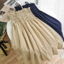 Dress Summer 2020 Average size Short skirt singleton  Sleeveless commute High waist Solid color Socket other other camisole 18-24 years old Type A Korean version 51% (inclusive) - 70% (inclusive)