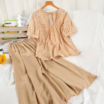 Fashion suit Summer 2021 Average size Apricot, khaki, coffee 18-25 years old 51% (inclusive) - 70% (inclusive)