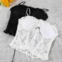 Vest sling Winter 2020 Black, white Average size singleton  have cash less than that is registered in the accounts Self cultivation commute camisole Solid color 18-24 years old 51% (inclusive) - 70% (inclusive) Lace Lace