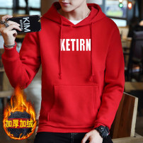 Sweater Youth fashion Kai color M L XL XXL XXXL other Socket Plush Hood winter easy leisure time teenagers tide routine A609 Fleece  Polyester 95% polyurethane elastic fiber (spandex) 5% printing Autumn of 2018 Pleated patch bag Pure e-commerce (online only) Japanese and Korean style