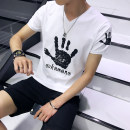 T-shirt Youth fashion routine XXL XXXL M L XL Kai color Short sleeve Crew neck Self cultivation daily summer Polyester 95% polyurethane elastic fiber (spandex) 5% teenagers routine tide Knitted fabric Summer 2017 other printing Creative interest No iron treatment Fashion brand