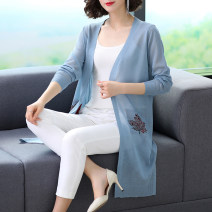 Wool knitwear Summer 2020 S M L XL XXL XXXL Black Pink White Blue Long sleeves singleton  Cardigan acrylic fibres 51% (inclusive) - 70% (inclusive) Medium length Thin money commute easy V-neck Solid color 25-29 years old Zuozif / Zhuo Zifeng thread Pure e-commerce (online only)