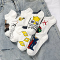 Socks / base socks / silk socks / leg socks lovers Other / other 5 pairs Thin money Boat socks Four seasons motion Cartoon animation cotton hygroscopic and sweat releasing jacquard weave