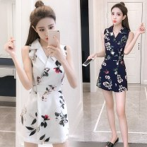 Casual pants S,M,L,XL Summer 2020 shorts Jumpsuit High waist commute Thin money 18-24 years old Korean version