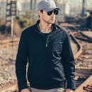 Jacket Jeep chariot / Jeep Chariot Fashion City L XL 2XL 3XL 4XL 5XL thin easy Travel? autumn Cotton 100% Long sleeves Wear out stand collar Military brigade of tooling youth routine Zipper placket Cloth hem washing Closing sleeve Solid color Autumn of 2018 Rib bottom pendulum Side seam pocket cotton