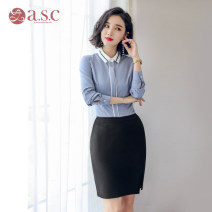 Professional dress suit S,M,L,XL,XXL Autumn of 2018 Long sleeves Shirt, other styles Suit skirt 25-35 years old AI Shangchen 96% and above polyester fiber