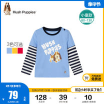 T-shirt Sky blue coral red dazzle color yellow add purchase collection Hush Puppies / Hush Puppies 80cm 90cm 100cm 110cm 120cm 130cm male spring and autumn Long sleeves Crew neck leisure time nothing cotton Cartoon animation Cotton 100% HPOQBX24CT716 Class A Spring 2021 Chinese Mainland