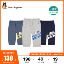 trousers Hush Puppies / Hush Puppies male 90cm 100cm 110cm 120cm 130cm 140cm summer Cropped Trousers motion Casual pants Leather belt middle-waisted Cotton 100% Class A Summer 2021 18 months, 2 years, 3 years, 4 years, 5 years Chinese Mainland