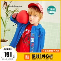 Plain coat Hush Puppies / Hush Puppies male 80cm 90cm 100cm 110cm 120cm 130cm spring and autumn motion Zipper shirt There are models in the real shooting routine No detachable cap Cartoon animation other Polyester 100% Class A Spring 2021