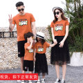 Parent child fashion Camel Top Red Top Black Skirt Black Shorts White Shorts Blue T-Shirt white T-shirt A family of three neutral Miaojing S919 summer Korean version routine Cartoon animation Finished T-shirt cotton L M S XL S919 Cotton 95% polyurethane elastic fiber (spandex) 5% Class B M L XL XXL