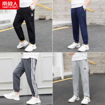 trousers NGGGN male 110cm 120cm 130cm 140cm 150cm 160cm spring and autumn trousers leisure time There are models in the real shooting Leggings Leather belt middle-waisted cotton Don't open the crotch Other 100% 110-160 Autumn of 2019 Chinese Mainland
