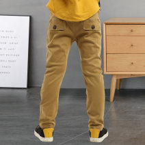 trousers Bei Xilong male 110cm 120cm 130cm 140cm 150cm 160cm spring and autumn trousers leisure time There are models in the real shooting Casual pants Leather belt middle-waisted cotton Don't open the crotch Cotton 95% polyurethane elastic fiber (spandex) 5% Class B Autumn of 2019 Chinese Mainland