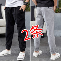 trousers Bei Xilong male 110cm 120cm 130cm 140cm 150cm 160cm 170cm spring and autumn trousers leisure time There are models in the real shooting Casual pants Leather belt middle-waisted cotton Don't open the crotch Cotton 95% polyurethane elastic fiber (spandex) 5% BX8098A Class B Spring of 2018
