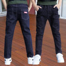 trousers Bei Xilong male 110cm 120cm 130cm 140cm 150cm 160cm 170cm spring and autumn trousers leisure time There are models in the real shooting Jeans Leather belt middle-waisted Cotton elastic denim Don't open the crotch Cotton 95% polyurethane elastic fiber (spandex) 5% Class B Spring of 2019