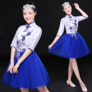 National costume / stage costume Summer 2017 blue Tailor made s ml XL XXL XXXL 4XL 5XL MZ17033 Mi Ziqi 18-25 years old Other 100% Pure e-commerce (online only)